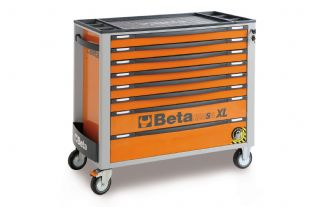 Beta C24SAXL/8-O Mobile Roller Cab With Eight Drawers (Orange)